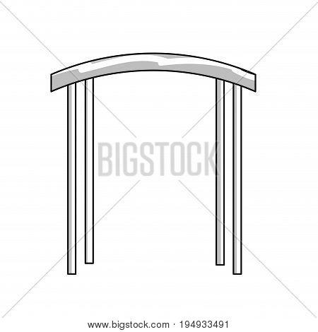 line arc decorative design to special celebrate vector illustration