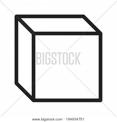 Cube, sketch, math icon vector image. Can also be used for Math Symbols. Suitable for mobile apps, web apps and print media.