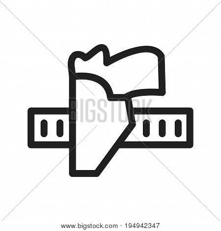 Holster, gun, pistol icon vector image. Can also be used for Mens Accessories. Suitable for use on web apps, mobile apps and print media.
