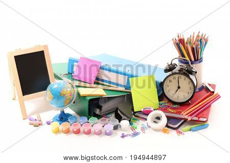 selection of shool or business accessories