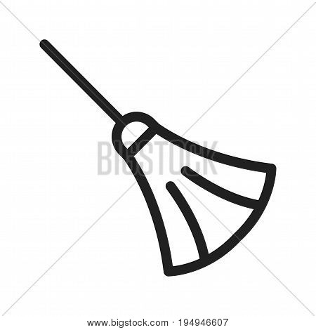 Broom, sweeping, dust icon vector image. Can also be used for Cleaning Services. Suitable for use on web apps, mobile apps and print media.