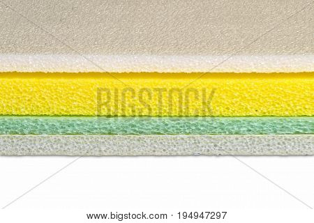 Polyethylene material closed up multi color type shockproof material