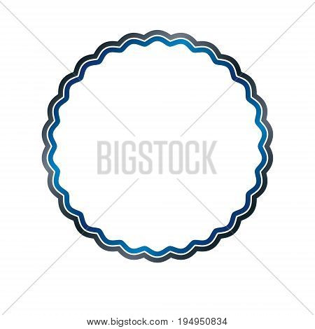 Award vintage circular frame with clear copy space made as art medallion design decorated with curves and undulate lines. Vector retro style label heraldry emblem isolated on white background.