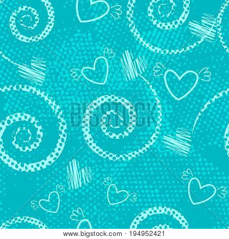 Abstract Seamless Pattern For Girls,boys, Clothes. Creative Vector Background With Dots, Geometric F
