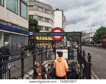 Notting Hill Gate Tube Station In London