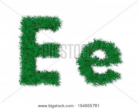 Vector Nature Green Grass Uppercase And Lowercase Alphabet Letter.