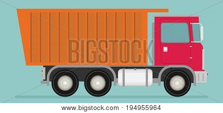 Flat illustration of truck icon vector for design