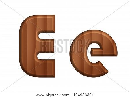 Nature Wooden Texture Font Upper Case And Lower Case Alphabet .