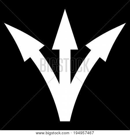 Three Way Direction Arrow The White Color Icon .