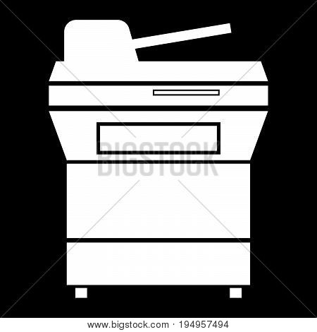Multifunction Printer Or Automatic Copier The White Color Icon .