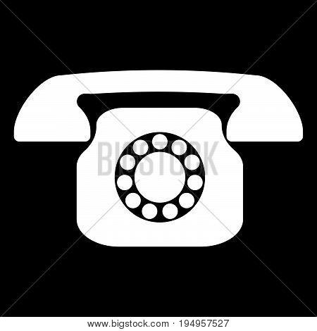 Retro Telephone The White Color Icon .