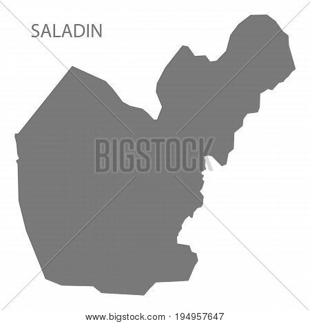 Saladin Iraq map grey illustration silhouette shape