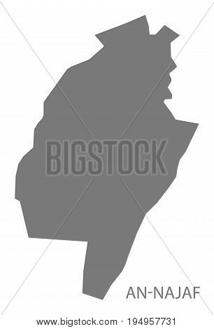 An-Najaf Iraq map grey illustration silhouette shape