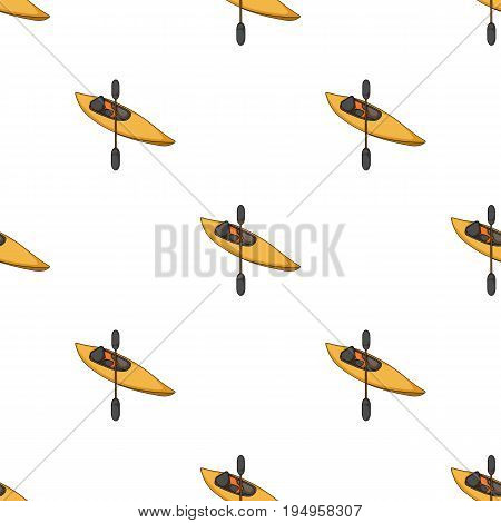 Kayak with oars.Extreme sport single icon in cartoon style vector symbol stock illustration .