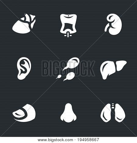Heart, blood, kidney, ear, sperm, liver, finger, nose, lungs.