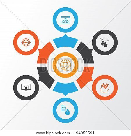 SEO Icons Set. Collection Of Keyword Marketing, Web Page Performance, Report And Other Elements. Also Includes Symbols Such As Marketing, Website, Consulting.