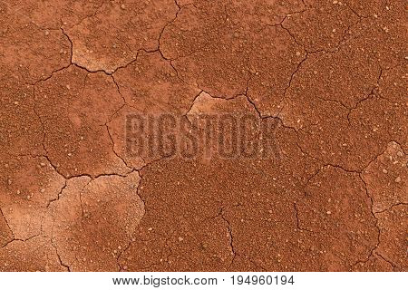 Dry cracked earth background. Cracked mud pattern.