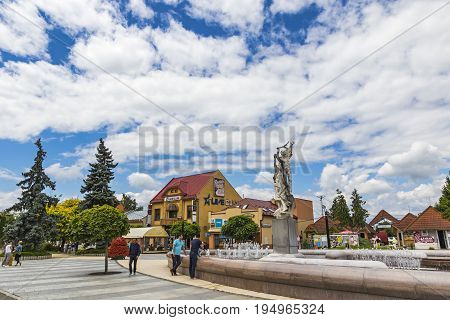 The Liberation Square In Michalovce City, Slovakia