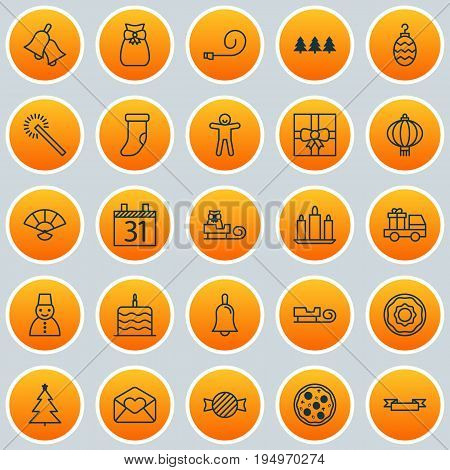 New Icons Set. Collection Of Placard, Pizza Meal, Toffee Candy Elements. Also Includes Symbols Such As Date, Celebrate, Hand.