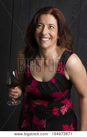 Laughing With A Glass Of Wine