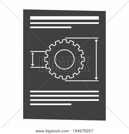 Product requirements document vector silhouette isolated on white background