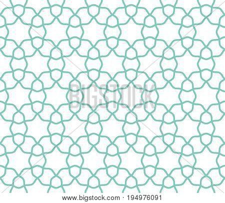 Arabic lattice geometric seamless pattern background vector illustration