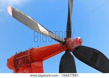 Propeller Of An Old Vintage Disused Cross Channel Hovercraft