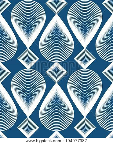 Ornate vector colorful abstract background with white lines. Symmetric decorative graphical pattern geometric illustration.
