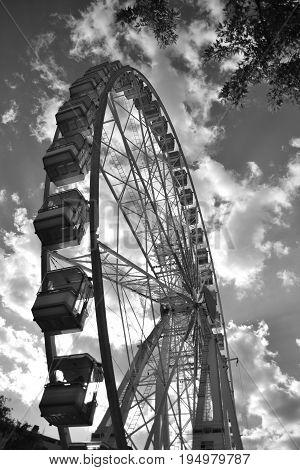 Ferris wheel Budapest eye, giant wheel, big wheel