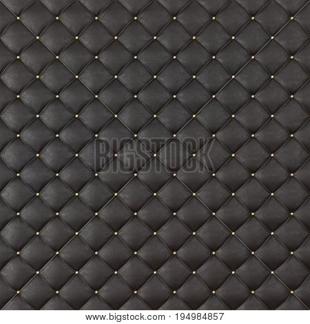 Brown Leather Upholstery Sofa Background. Brown Luxury Decoration Sofa. Elegant Brown Leather Texture With Buttons For Pattern and Background. Leather Texture for Graphic Resource. 3D Rendering
