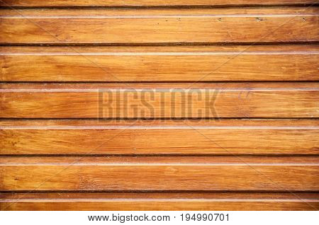 A Background With Horizontal Planks With Refief Surface With Slots Between Boards. Surface Varnished