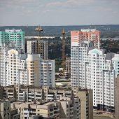 Kiyv, Ukraine, aerial view poster