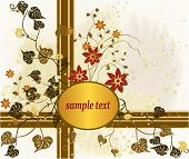 Abstract floral art design vector background illustration poster