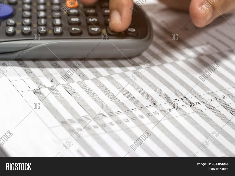 Using Calculator Image & Photo (Free Trial) | Bigstock