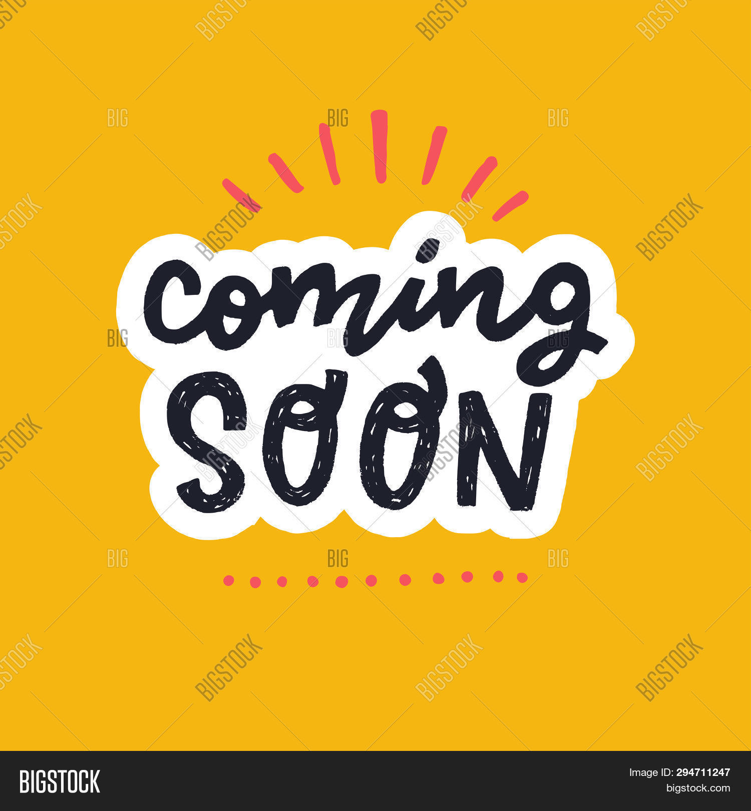 Coming Soon Hand Vector Photo Free Trial Bigstock