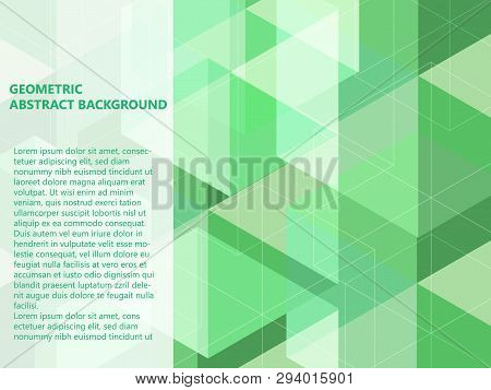 Beautiful Classic Pastel Green Mint And White Polygon Shape In Minimal Modern Trendy Geometric Conce