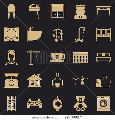 Teahouse Icons Set. Simple Set Of 25 Teahouse Vector Icons For Web For Any Design