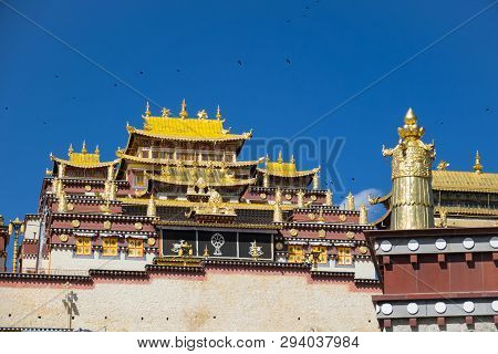 Songzanlin Monastery  A Tempel Of Tabetan In Shangri-la ,sichuan China , Popular Destination Of Trav