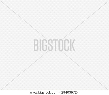 Seamless Background Of Textured White Paper Napkin. Texture Embossed Square Shape. Tissue Paper Web