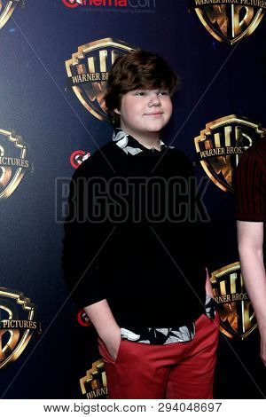 LAS VEGAS - APR 2:  Jeremy Ray Taylor at the 2019 CinemaCon - Warner Bros at the Caesars Palace on April 2, 2019 in Las Vegas, NV