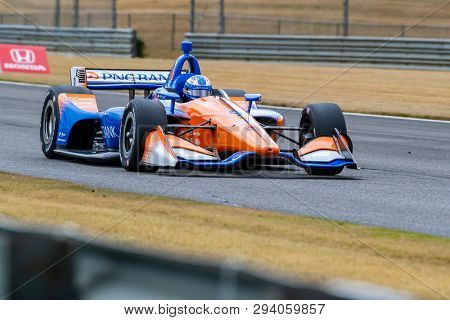 April 05, 2019 - Birmingham, Alabama, USA: SCOTT DIXON (9) of New Zealand goes through the turns during practice for the Honda Indy Grand Prix of Alabama at Barber Motorsports Park in Birmingham, Alab