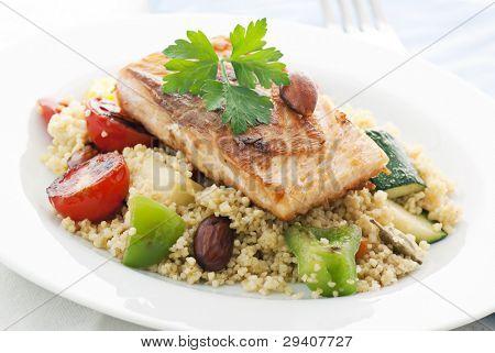 Kuskus with Salmon