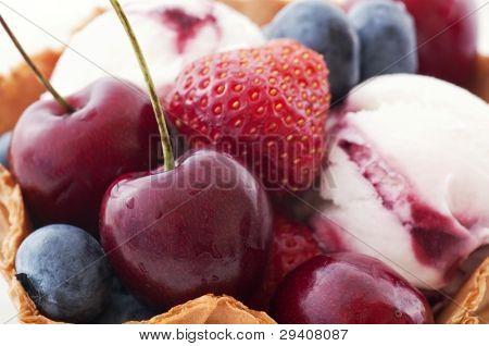 Icecream with Fruits