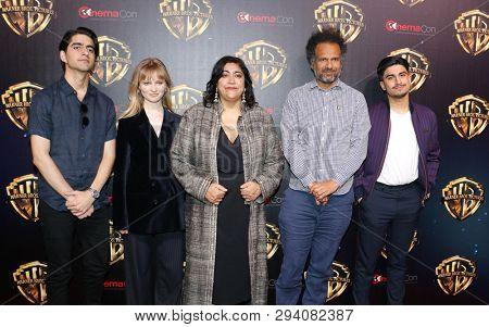 Viveik Kalra, Nell Williams, Gurinder Chadha, Sarfraz Manzoor and Aaron Phagura at the 2019 CinemaCon -'The Big Picture' Presentation held in Las Vegas, USA on April 2, 2019.