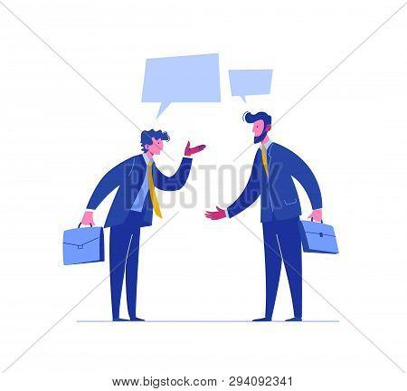 Businessman Conflict Complete Investor Portfolio. Confrontation People Relationship. Concept Busines