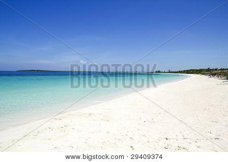Beach Of Cayo Santa Maria. Cuba
