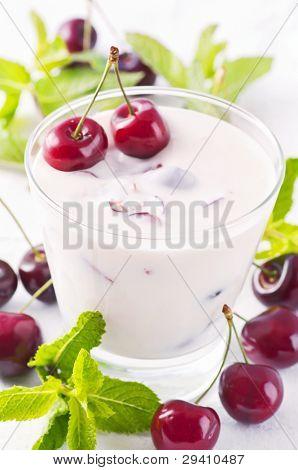 Cherry yoghurt