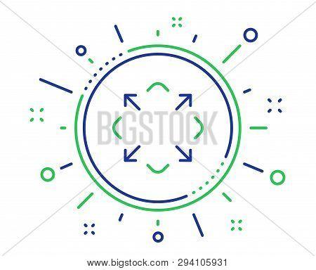Maximize Arrow Line Icon. Full Screen Symbol. Maximise Navigation Sign. Quality Design Elements. Tec