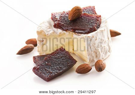 Camembert with quince jelly and almond poster