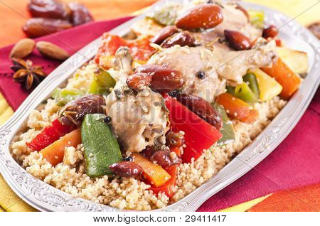 couscous with chicken and vegetable